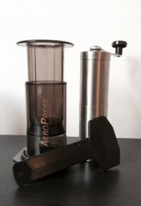 Aeropress and burr grinder